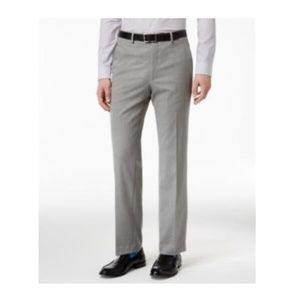 Slim-Fit Light Grey Pants - Stretch Performance 34